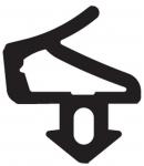 Резиновый уплотнитель Salamander (414020) для рам и створок черный