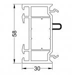 РАСШИРИТЕЛЬ 30 мм (ан.360) с уплотнением, L-6,5