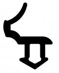 Резиновый уплотнитель КВЕ (227) черный