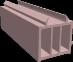 ПОДСТАВОЧНЫЙ ПРОФИЛЬ КВЕ 58, Exprof, Proplex, Novotex (ан.343), L-6,5