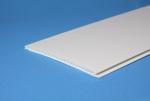 Панель ПВХ матовая белая 375 мм 6 метров