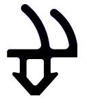 Резиновый уплотнитель Rehau (864952) черный